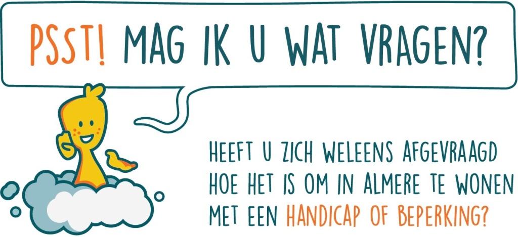 Guusje vraagt of u weet hoe het is om met een beperking te leven in Almere.